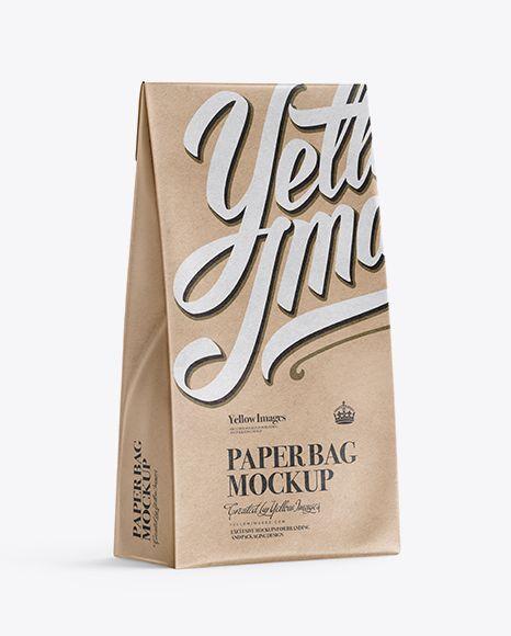 Download Kraft Paper Bag Mockup Half Side View In Bag Sack Mockups On Yellow Images Object Mockups Bag Mockup Mockup Free Psd Free Packaging Mockup