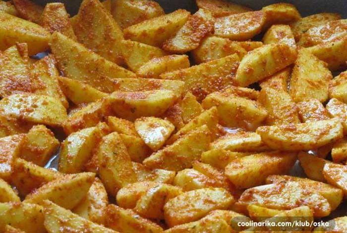 Křupavé paprikové brambory