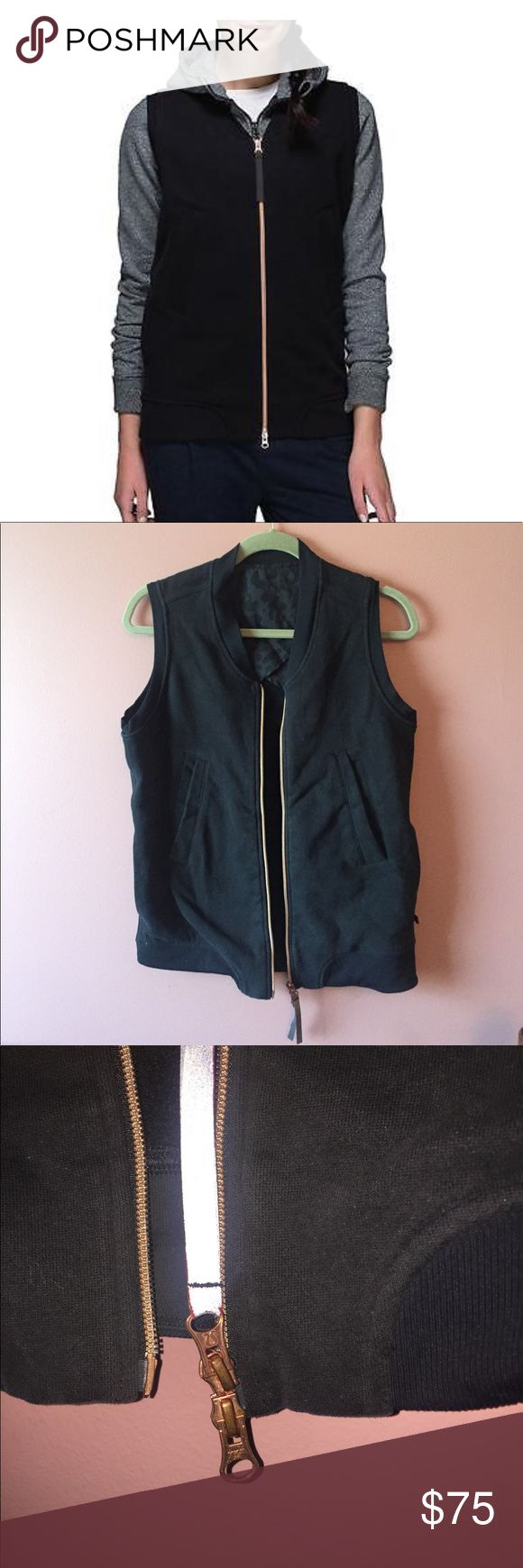 Lululemon Vest Worn Twice! Size 6! Gold Zipper This vest is perfect for layering!! It has 4 pockets!! Paired with a perfect rose gold zipper to give the vest a pop that it needs!! This is a great find!! Size 6! lululemon athletica Jackets & Coats Vests