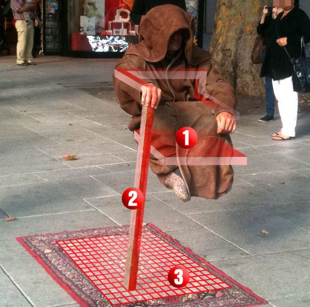 street performer illusions - Google Search