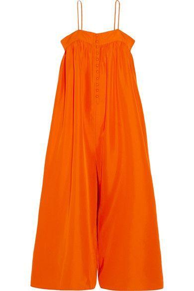 APIECE APART - Aroussa Silk Jumpsuit - Bright orange - US