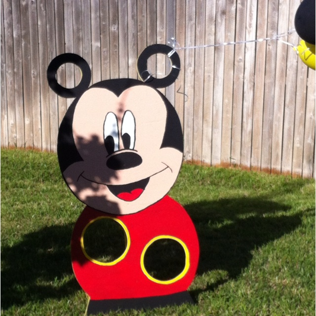 Mickey Mouse Bean Bag Toss Handmade Made Some Red And White Polka