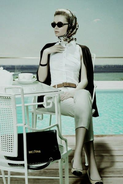 Grace Kelly, The American Princess, #tea photo shoot. Photo via relevanttealeaf.blogspot.com.