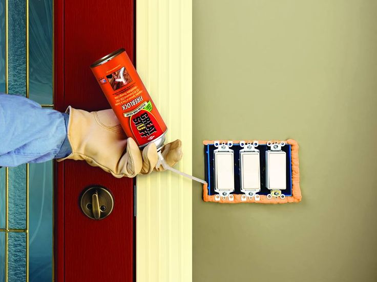 how to seal the gaps and cracks behind electrical outlet covers with great stuff fireblock. Black Bedroom Furniture Sets. Home Design Ideas