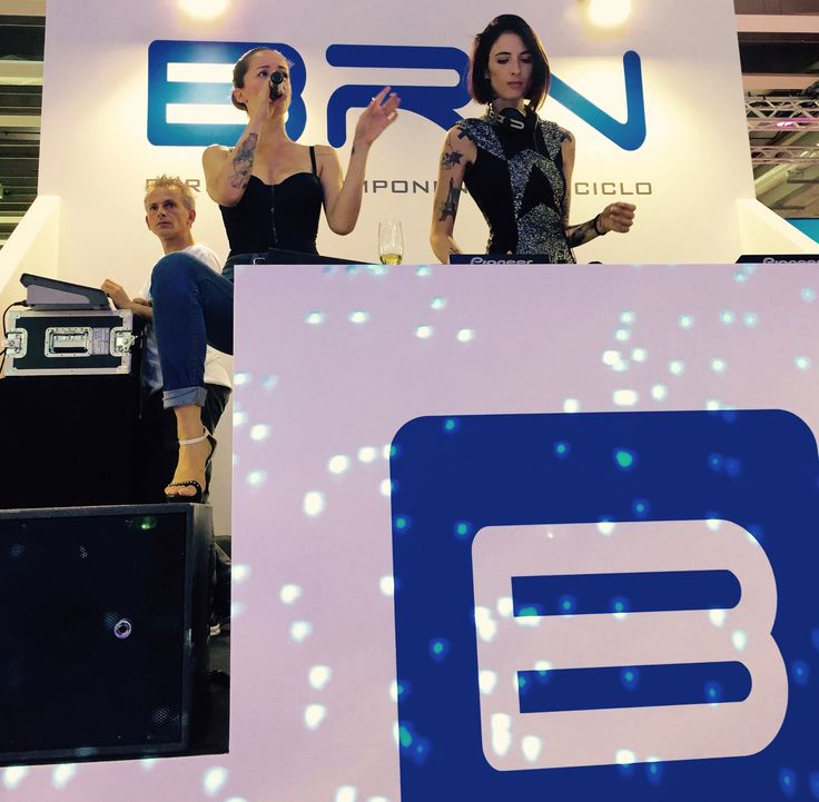 Ema Stokholma DJ and Andrea Delogu Vocalist at BRN-PARTY! CosmoBike Show 2015 Verona