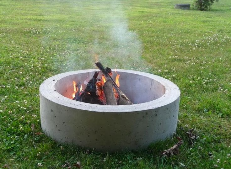 Concrete Fire Pit Ring Fireplace Design Ideas