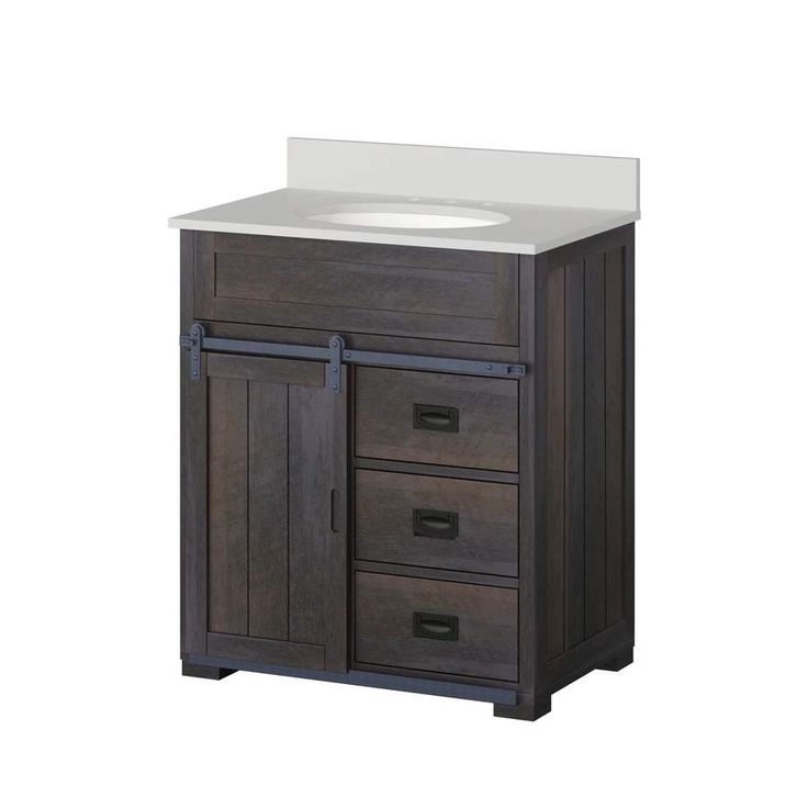 Lowe's: Style Selections Barndoor Farmhouse 30-in Sink Bathroom Vanity $199 (Reg. $349) #LavaHot http://www.lavahotdeals.com/us/cheap/lowes-style-selections-barndoor-farmhouse-30-sink-bathroom/165383?utm_source=pinterest&utm_medium=rss&utm_campaign=at_lavahotdealsus