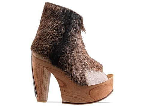 Today's So Shoe Me is the Mountain Goat by Lasskaa, $230, available at Solestruck. Now here is a hairy situation I wouldn't mind getting into.