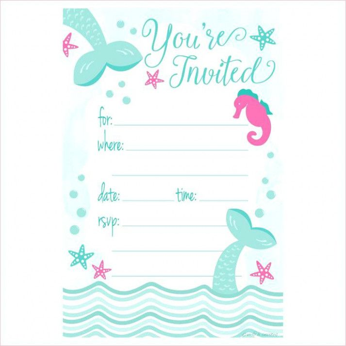 8 Lessons I Ve Learned From Birthday Invitation Template Mermaid B Mermaid Birthday Party Invitations Mermaid Birthday Invitations Free Party Invite Template