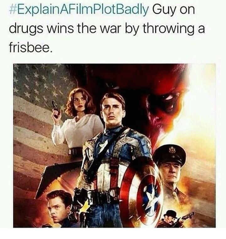 Not just a typical frisbee, but a disc made out of vibranium, the strongest metal on earth.
