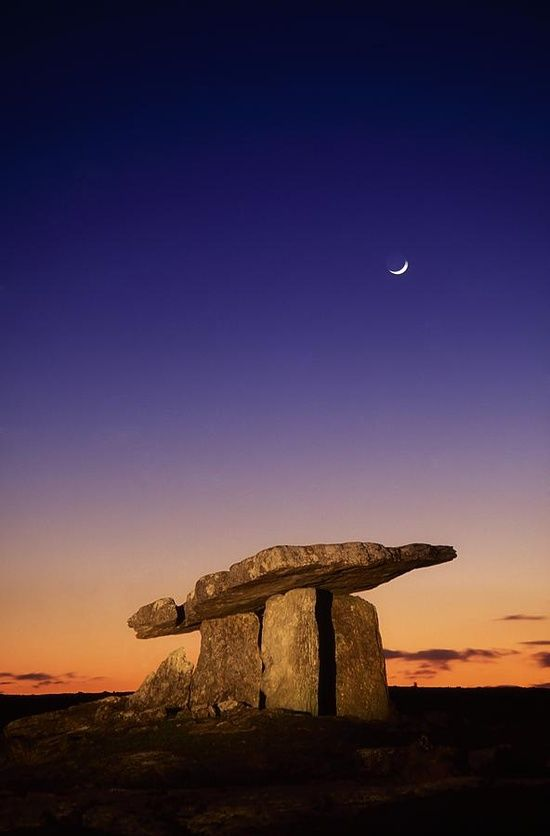 The Burren, County Clare, Ireland...one of the oldest monuments in the world in County Clare, it's a megalitic tomb