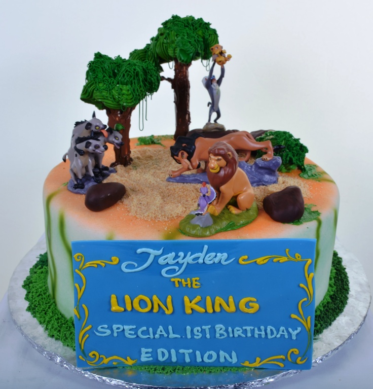 Lion King Cake...w/o blue banner.
