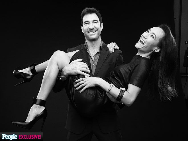 Say 'TV!' See Who's Having Fun at the TCAs | DYLAN MCDERMOTT & MAGGIE Q | What a lucky lady! Q gets swept up by her handsome CBS Stalker costar McDermott on Thursday.