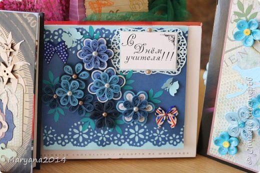 Поделка изделие Скрапбукинг День учителя Квиллинг Подарки на День учителя Бумага фото 4