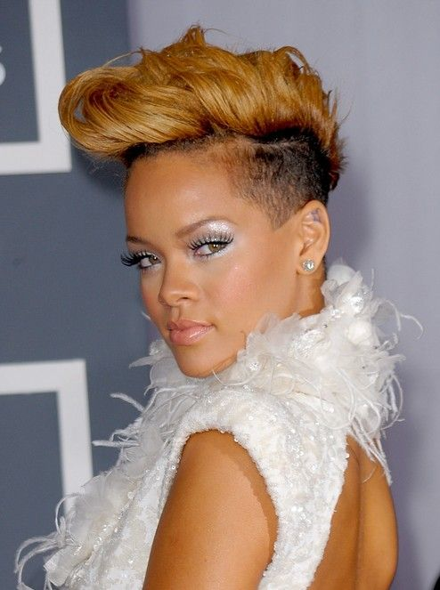 Rihanna FauxHawk Hairstyle for Women