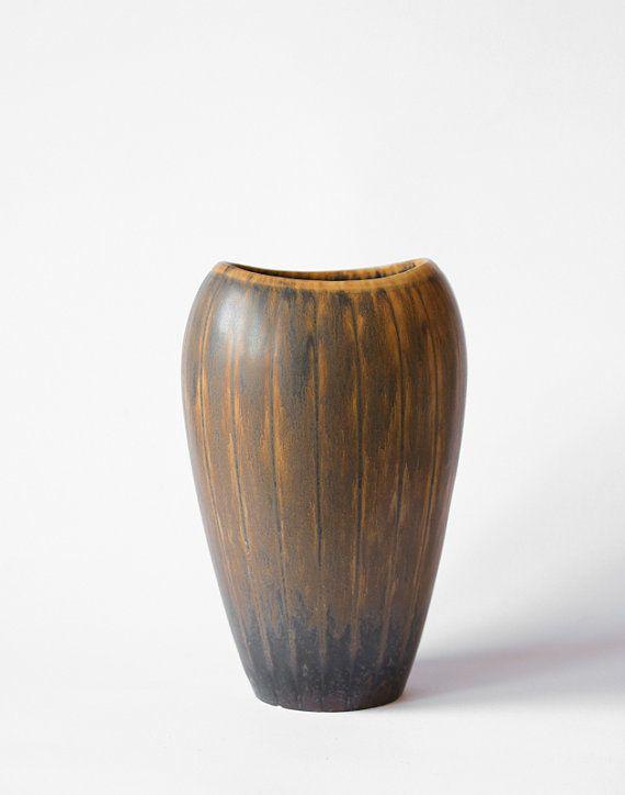 Gunnar Nylund Rorstrand Stoneware Vase Mid by KuriosaEurope, $159.00