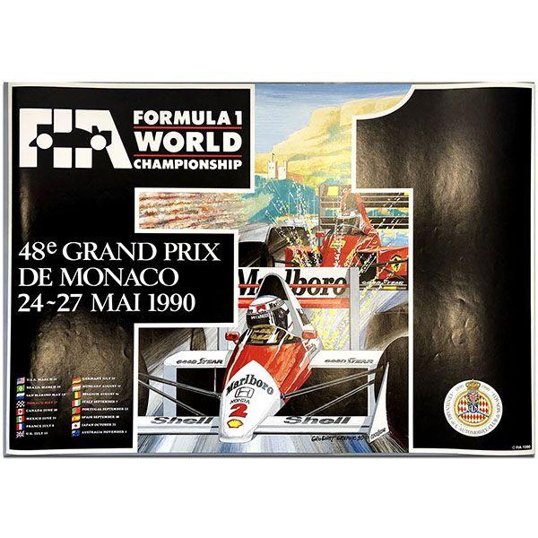 French Monaco Grand Prix 1990 Poster In 2021 Grand Prix Posters Monaco Grand Prix Monaco Grand Prix Posters