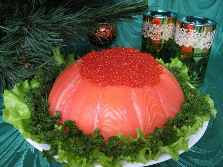 Рыбный салат с семгой праздничный - слоеный рыбный торт - рецепт с фото