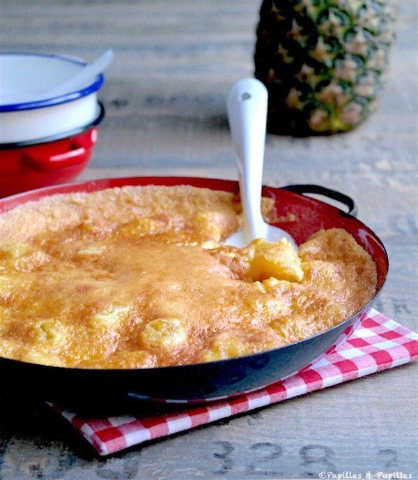 Gratin d'ananas au rhum et à la vanille