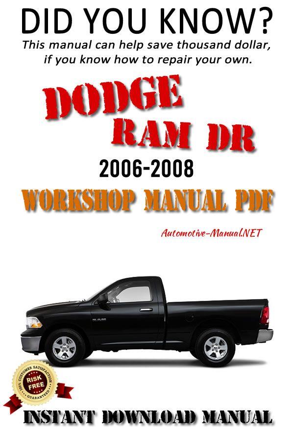 Download Dodge Ram Dr 2006 2008 Workshop Manual Pdf Dodge Ram Dodge Manual