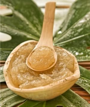 Mix sugar with oil (like almond oil or olive oil). To make it smell nice, add the essential oil of your choice. Rub onto skin and rinse off in the shower. You'll remove all those dead skin cells and reveal soft, supple skin as smooth as a baby's bottom.