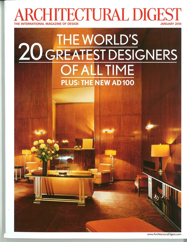 85 Best ARCHITECTURAL DIGEST COVERS Images On Pinterest