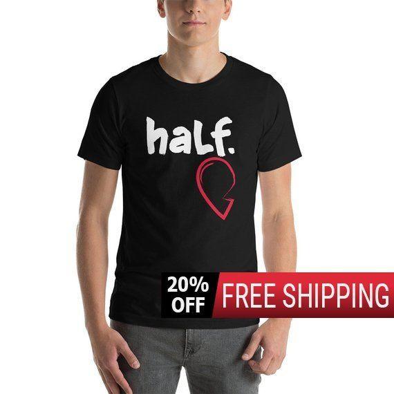 Heart Shirt, Half, Gift For Boyfriend, Gift For Husband, Gift For Men, Couples Shirts, Couples Gift, Men's Shirt