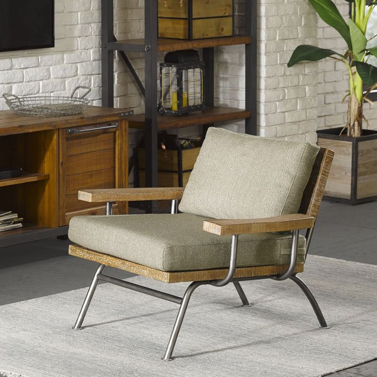 Ink and Iv Renu Taupe Brown Lounge Chair