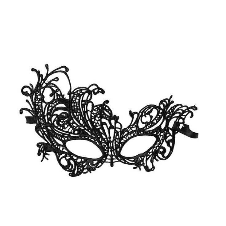 ラブリーペット1ピースセクシーなレースアイマスクベネチアンマスカレードボールパーティーファンシードレス衣装Oct105