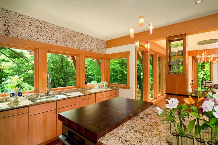 kitchen interior with wooden casement windows by marvin interior design kitchen kitchen on kitchen interior with window id=51780