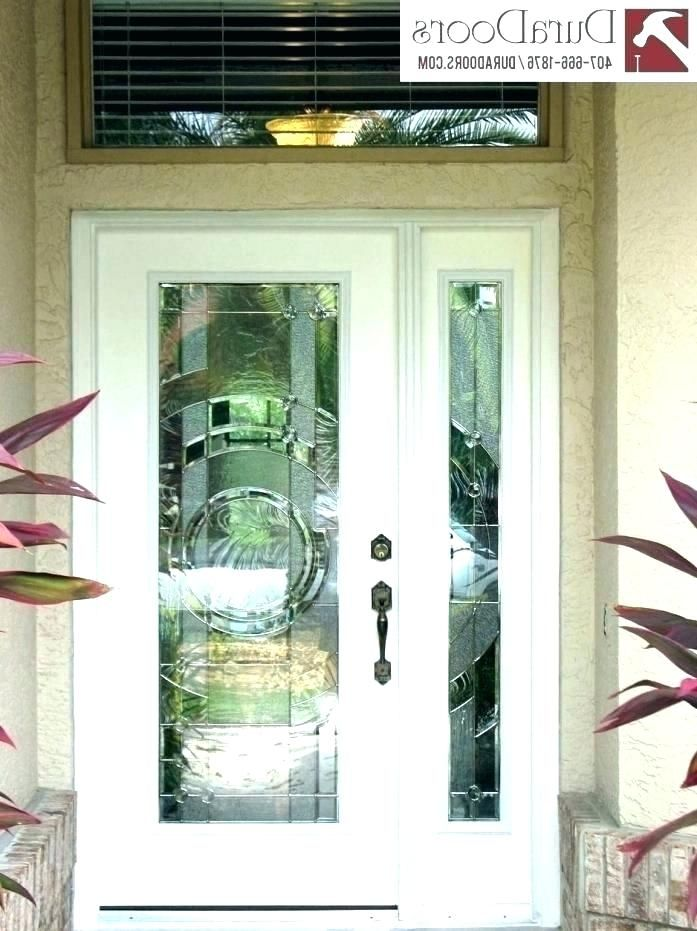 Entry Door Inserts Decorative Glass Front Doors Exterior Door
