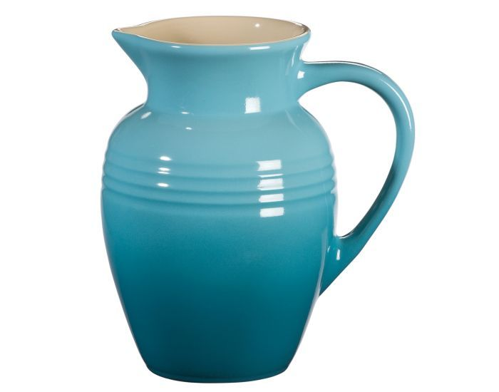 pretty pitcher. oh, le creuset, why is everything you make so pretty.