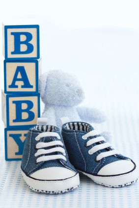 Tennis Shoes and Teddy Bears - what a fun theme for boys!