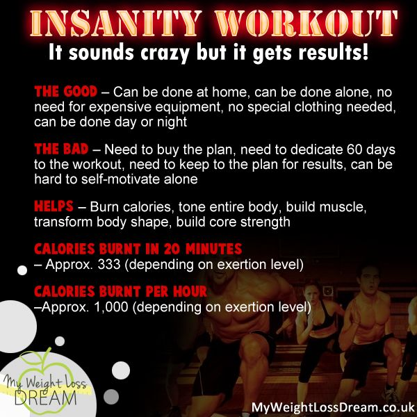 Insanity workout - it sounds crazy but it gets results #workout #fitness #weightloss