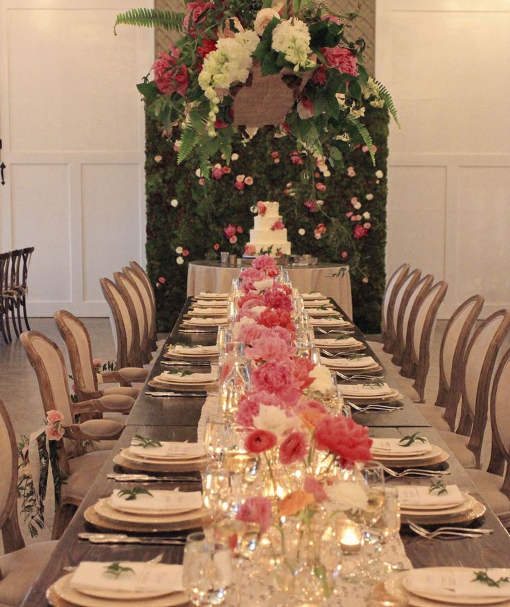 wedding reception venues woodstock ga%0A Amazing Floral design by Amy Osaba on our farm tables