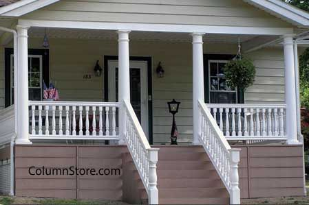 Versatile, most column wraps are made from vinyl and allow you to change the appearance of your porch with very little effort. Description from front-porch-ideas-and-more.com. I searched for this on bing.com/images