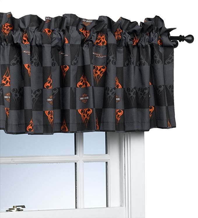 Harley Davidson Flames 84 By 15 Inch Window Valance Review