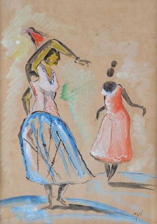 Baianas - watercolor - Carybé.