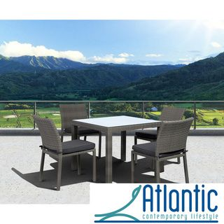 Atlantic Atlantic Liberty 5 Piece Grey Dining Set By Atlantic