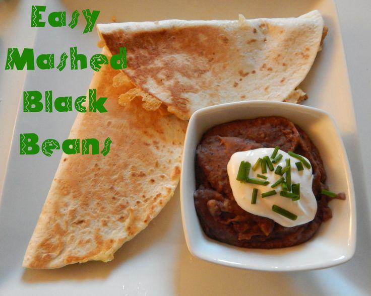 Easy Mashed Black Beans