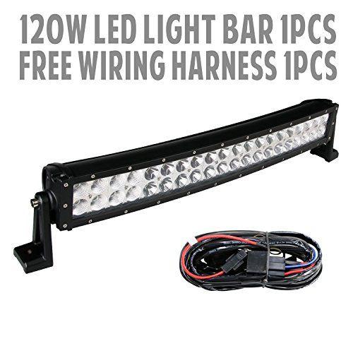"""288w 50"""" Inch 10v30v Curved LED Light Bar LED Work Light"""