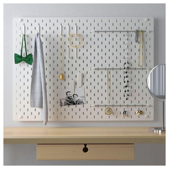 Ikea Skådis Panneau Perforé Agencement Blanc Rangements