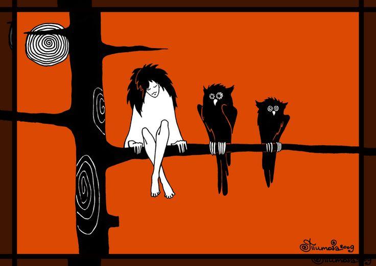 Иллюстрации к книгам Макса Фрая. Цветовое и даже стилевое решение, естественно, под влиянием иллюстраций самых первых изданий серии (Игорь Степин) и последующих (Людмила Милько)