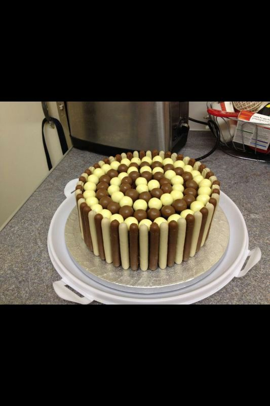 Chocolate fingers & malteser cake. www.facebook.com/jvcakescupcakestreats