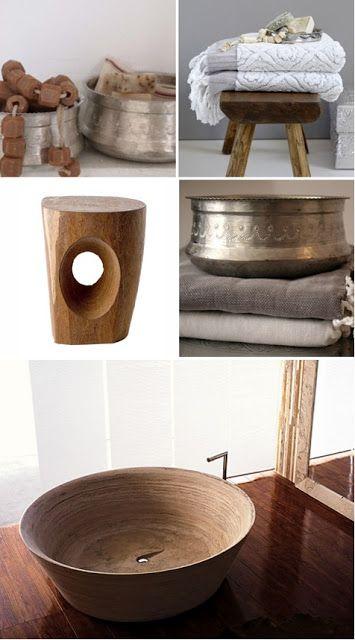 natural modern interiors: Bathroom bowls