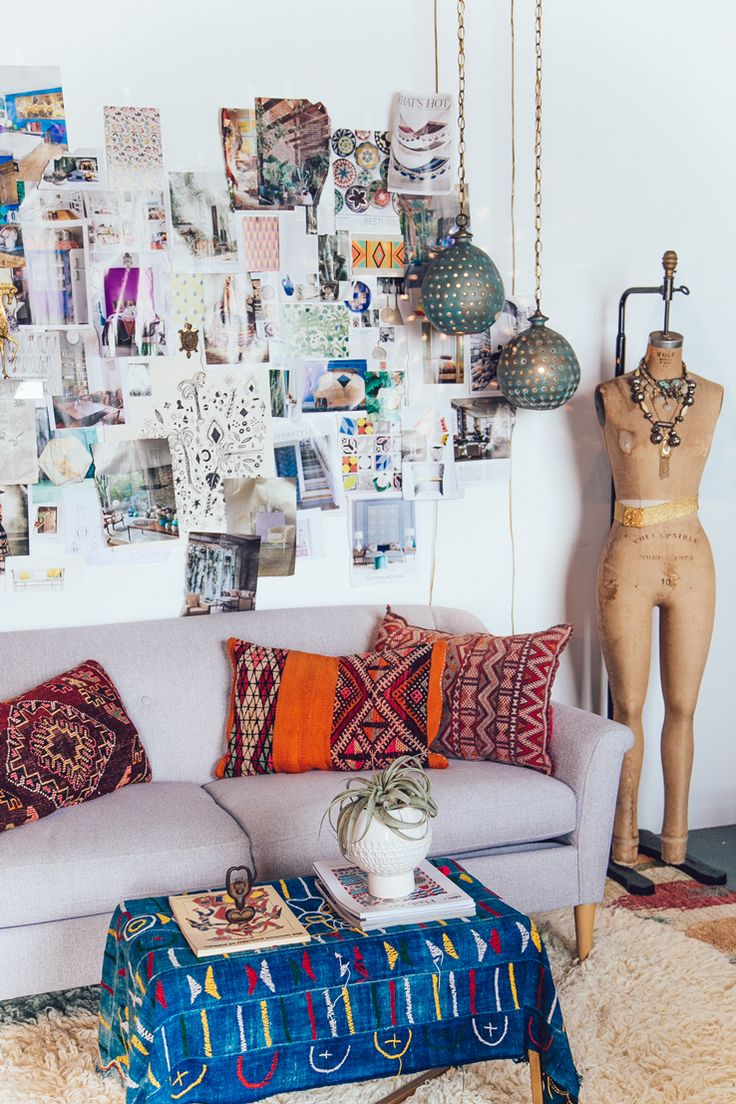 1 Amazing Studio + 5 Small Space Tips by Justina Blakeney