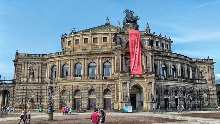 ドレスデン, ドイツ, オペラハウス, 芸術, 古典的な, クラシック, ゼンパーオーパー, オペラ, 人