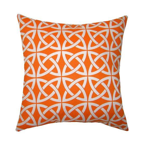 Modern Orange Throw Pillow  Linked In by LandofPillowsDotCom, $18.99