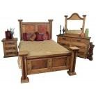 Pounded Copper Rustic Bedroom Set | rustic furniture | tresamigosworldimports.com