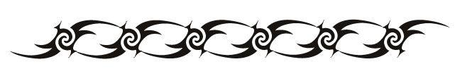 Tribal Hook & Swirls Armband - Glow Tattoo #tattooforaweek #tribal #armband